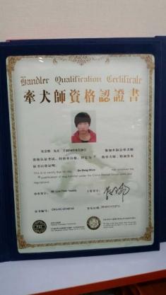 恭喜杨丹,张建,杜宗朔,唐春义,四位同学通过CKU C级牵犬师资格考试!