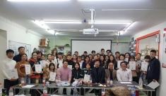 哈尔滨爱尚宠物美容培训学校猫咪洗护美容课,感谢韩国来的Jessica  Min